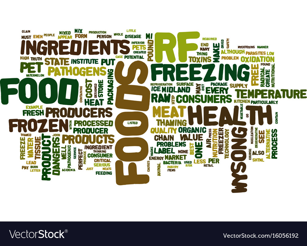 The case against raw frozen pet foods text vector image
