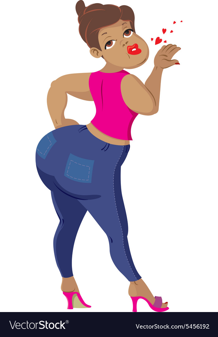 Woman with big buttocks vector image