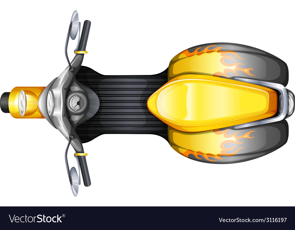 a topview of a scooter royalty free vector image vectorstock