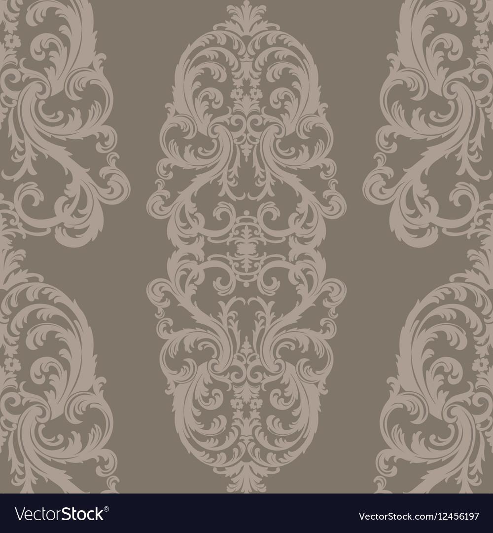 Baroque Floral Damask ornament pattern