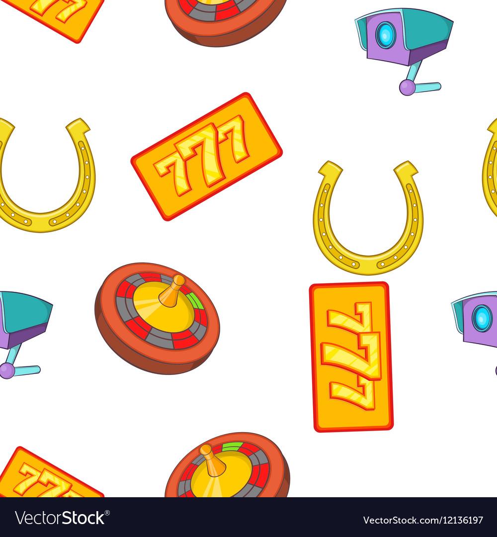 Gambling elements pattern cartoon style vector image