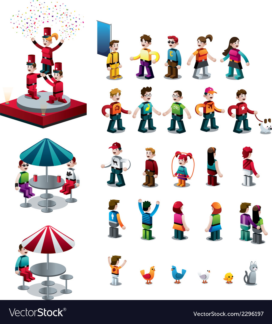 Isometric characters set