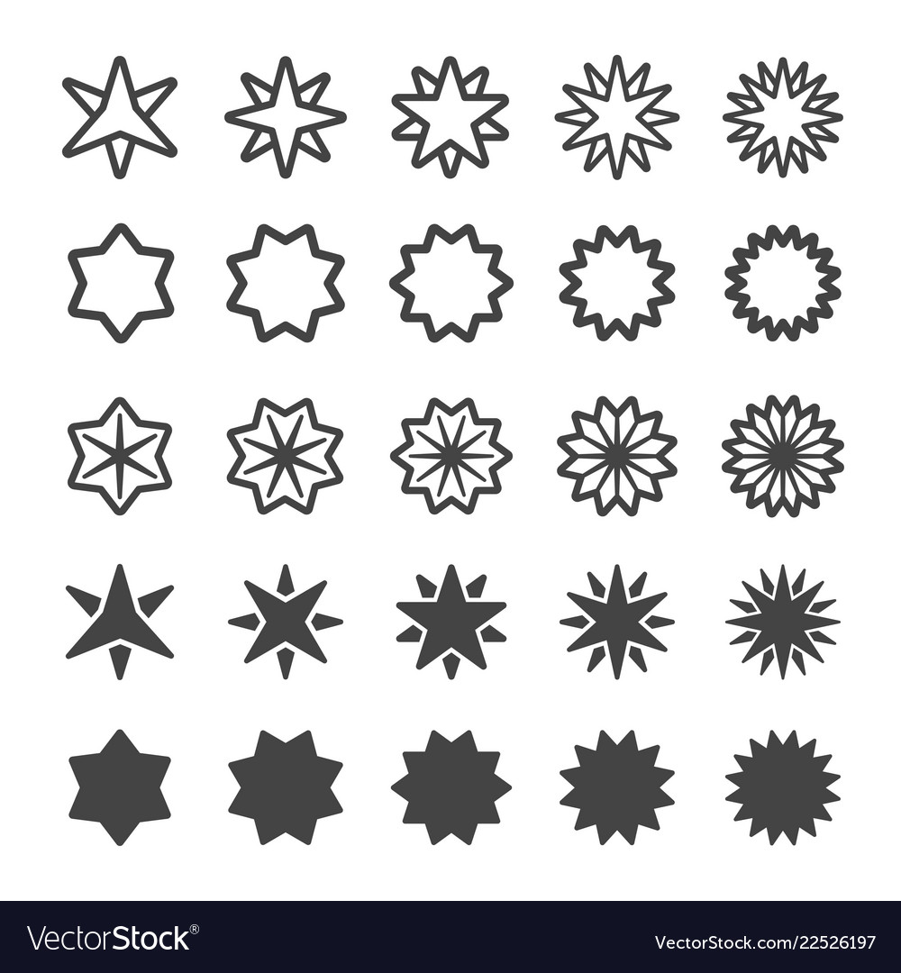 Multi pointed star icon