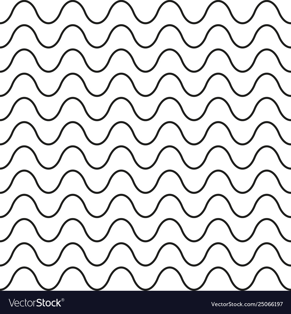 Pattern black wavy line seamless background