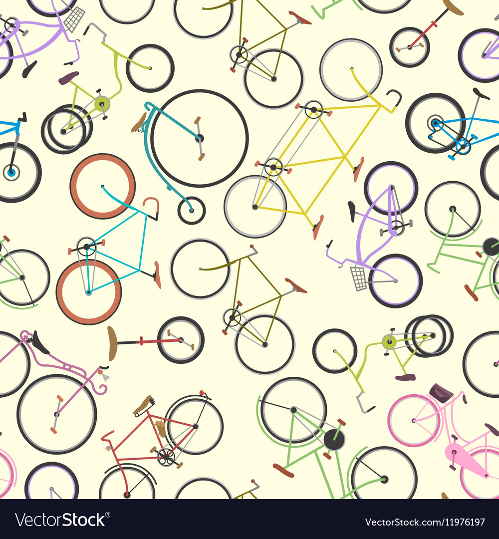 Retro bike pattern background