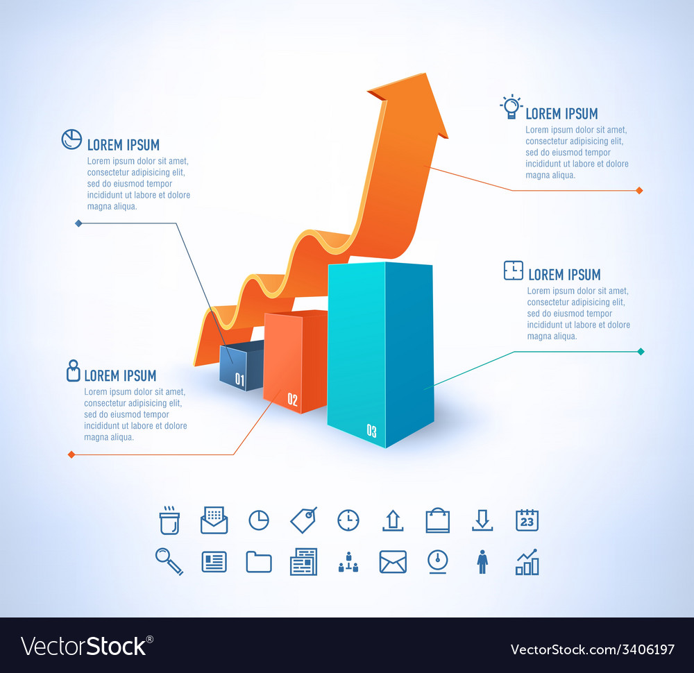Template in modern style For infographic and