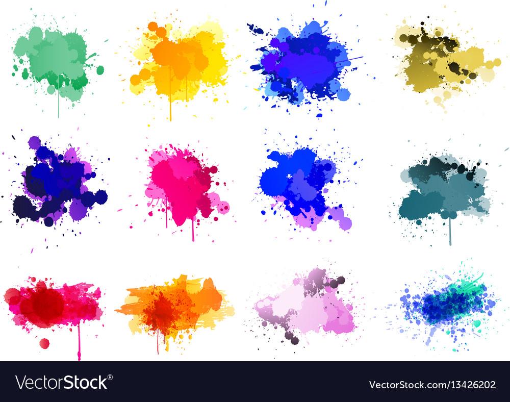 Colorful paint splatters
