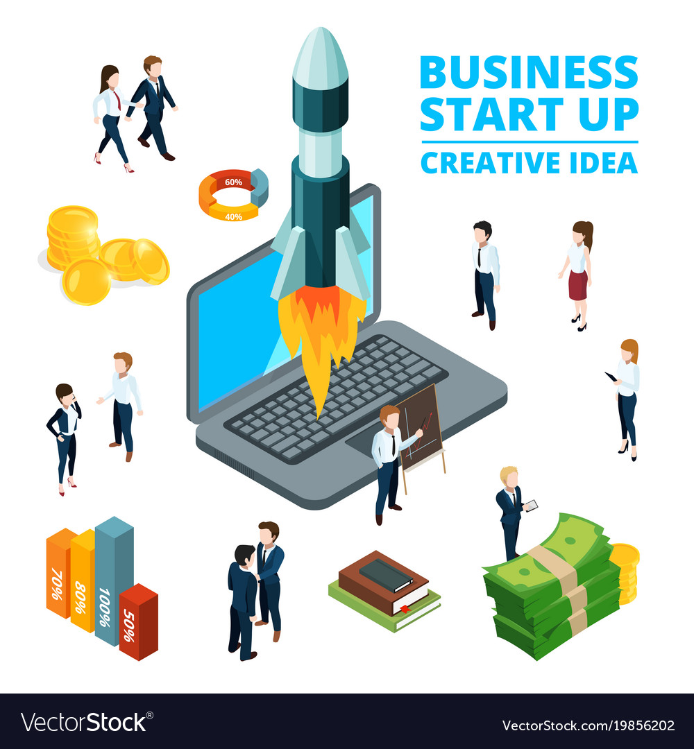 Concept of starting business startup