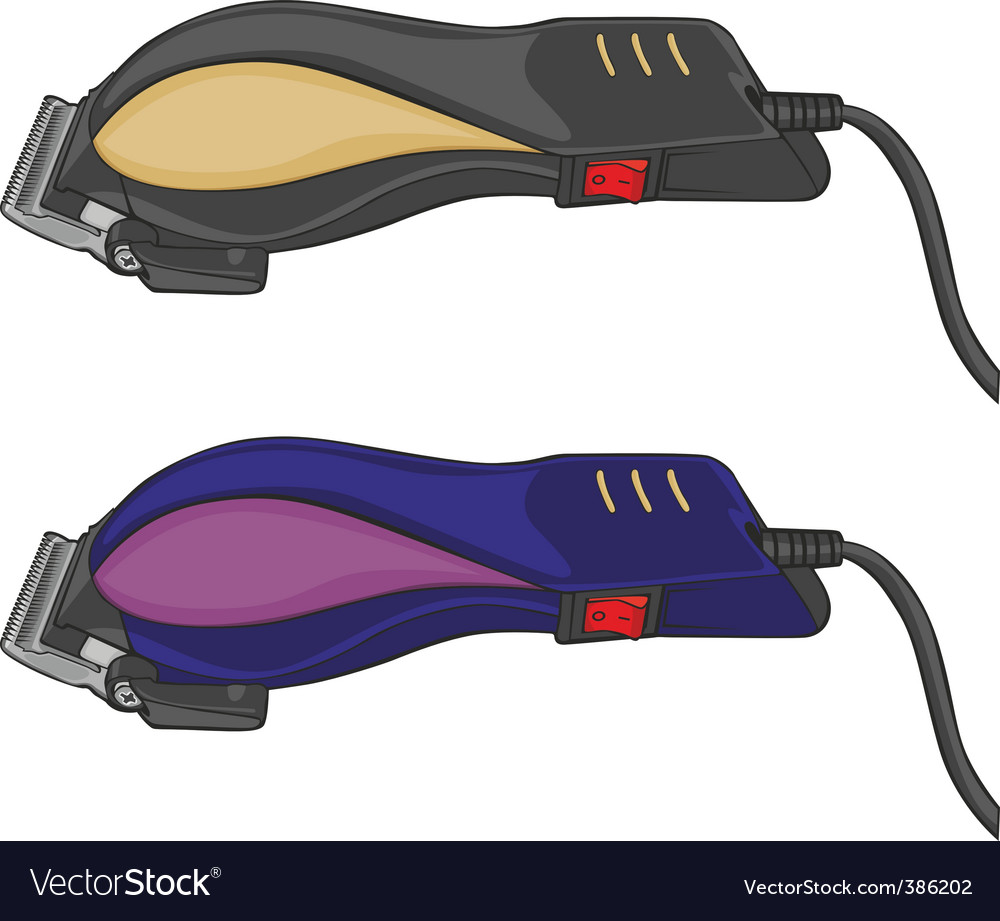 Electric hair clippers vector image