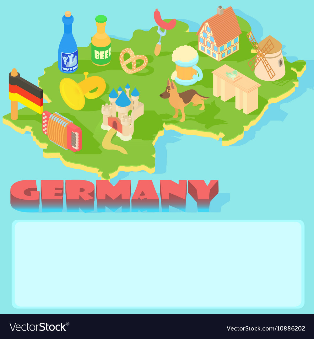 Germany map cartoon style royalty free vector image germany map cartoon style vector image gumiabroncs Images