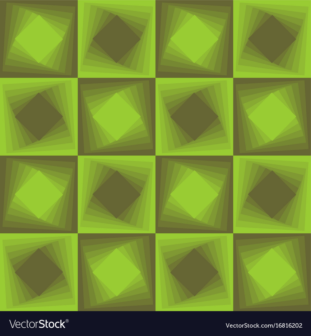 Green abstract background checker patterns with vector image