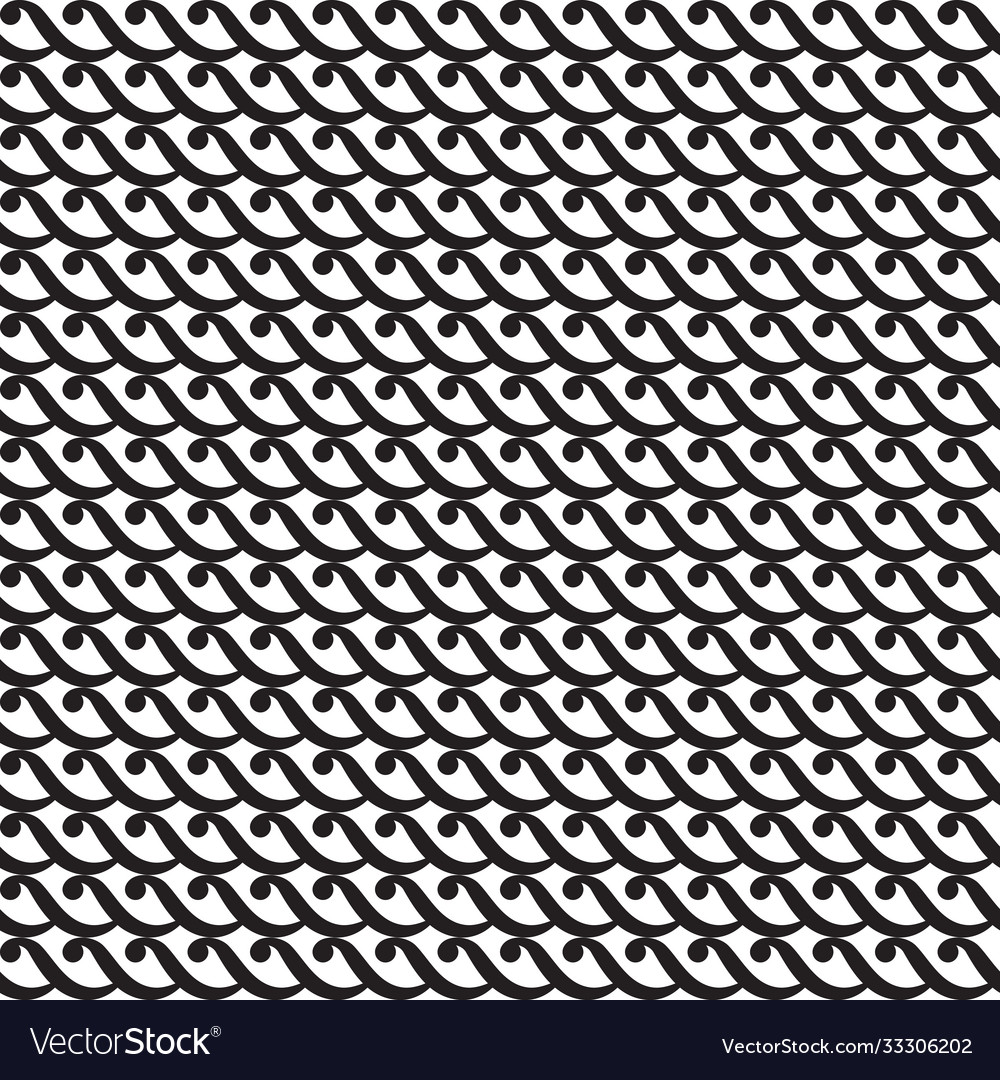 Seamless geometric curl pattern waves