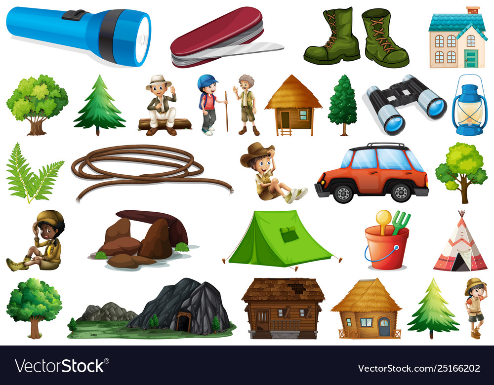 Set camping element