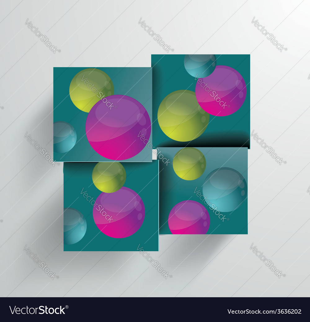 Simple and Colorful Circles Background