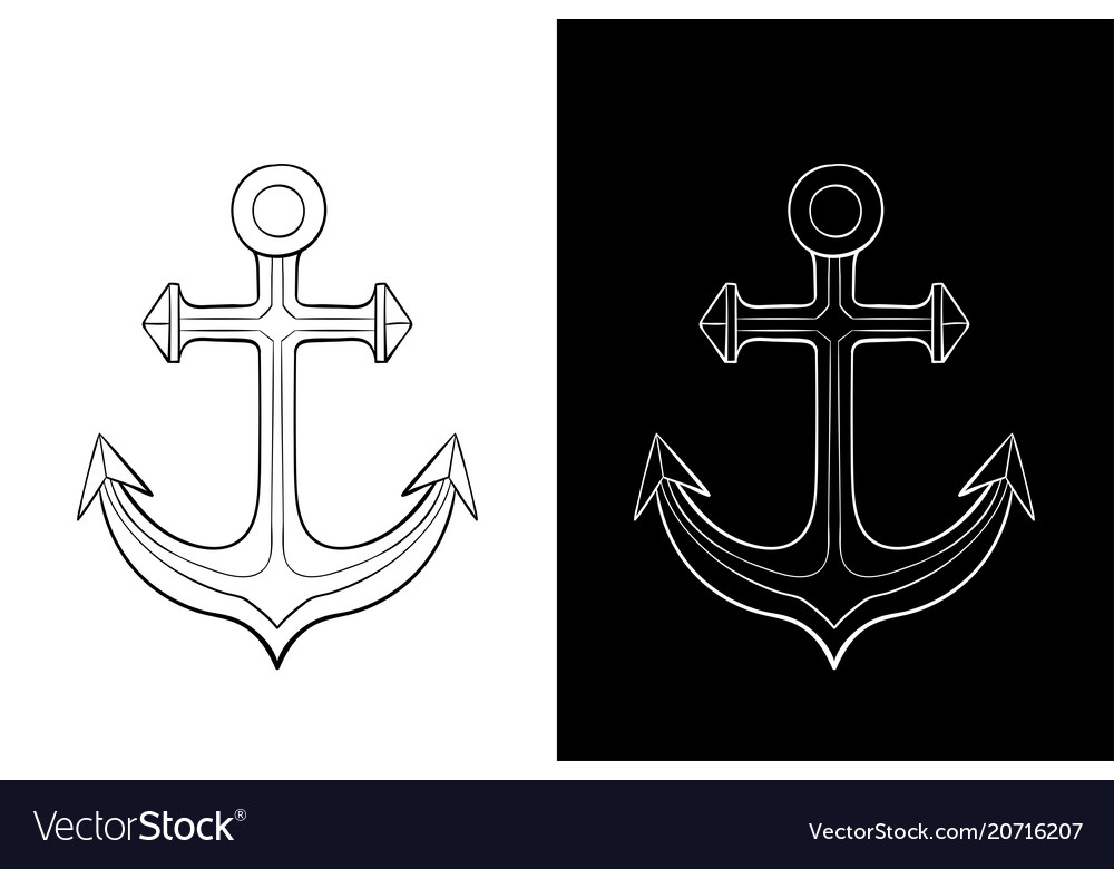 Anchor outline drawing
