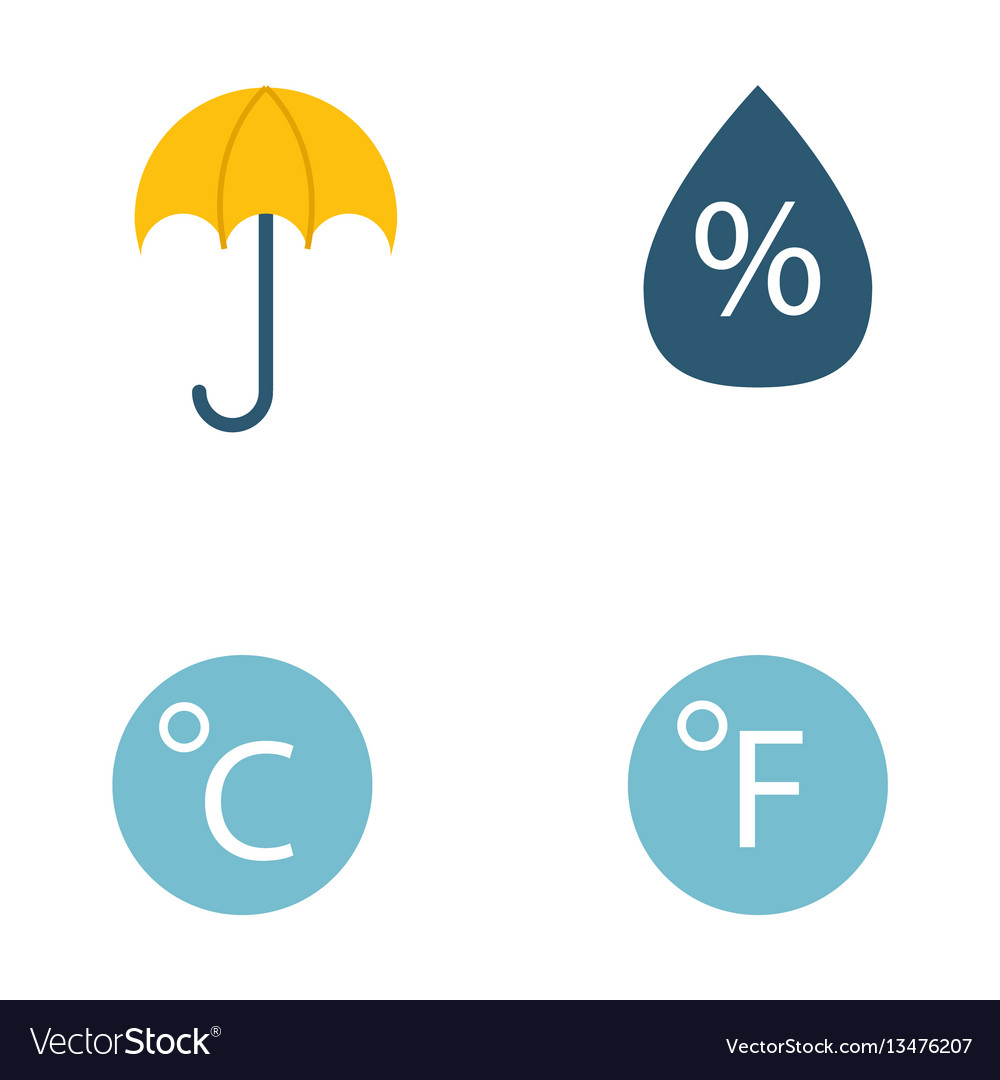 Climate forecast weather symbols