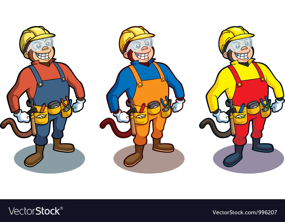 Construction Monkey vector image