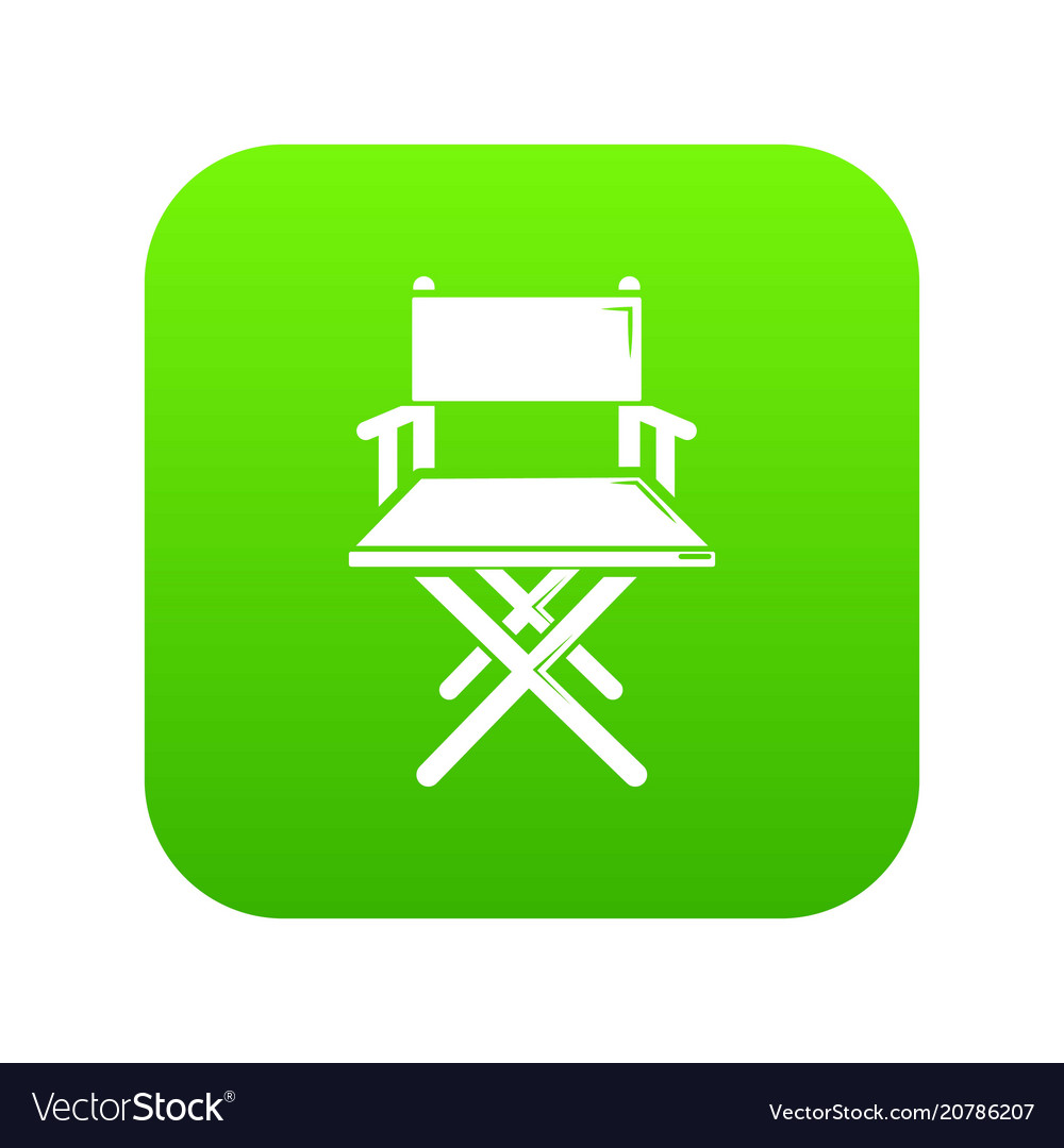 Director chair icon green