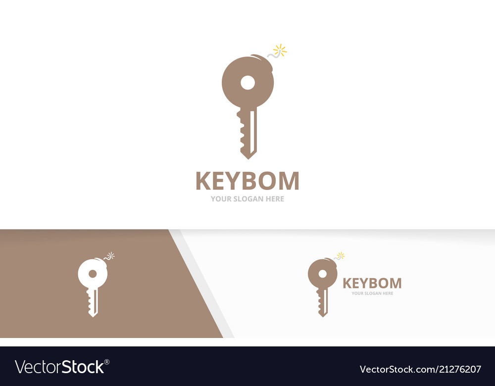 Key and bomb logo combination lock and
