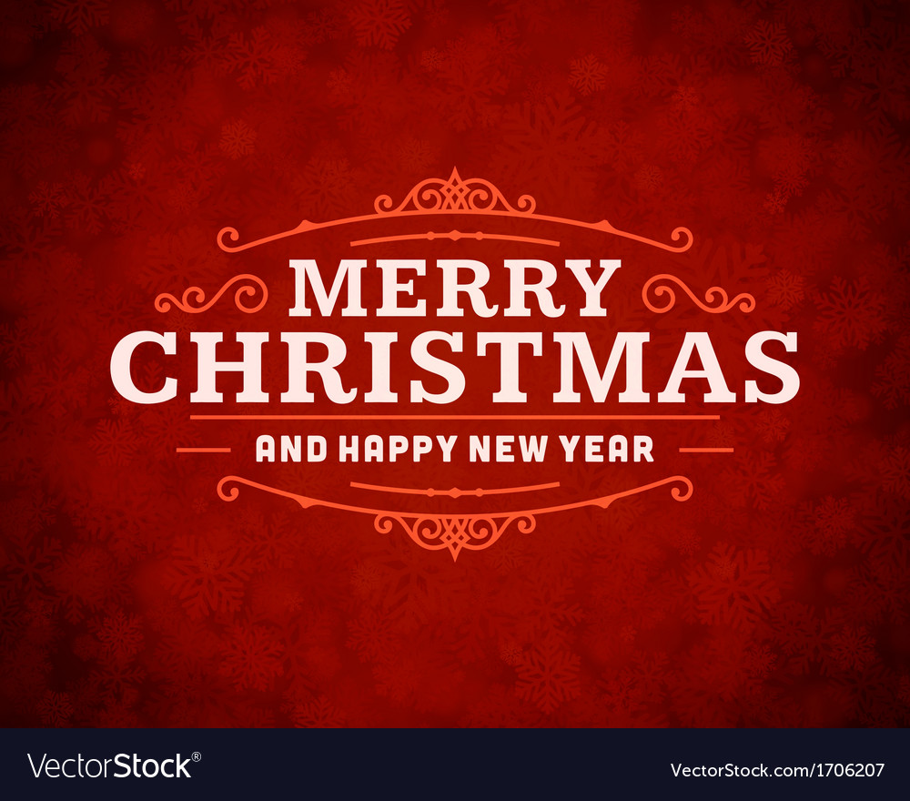 Merry Christmas message and light background