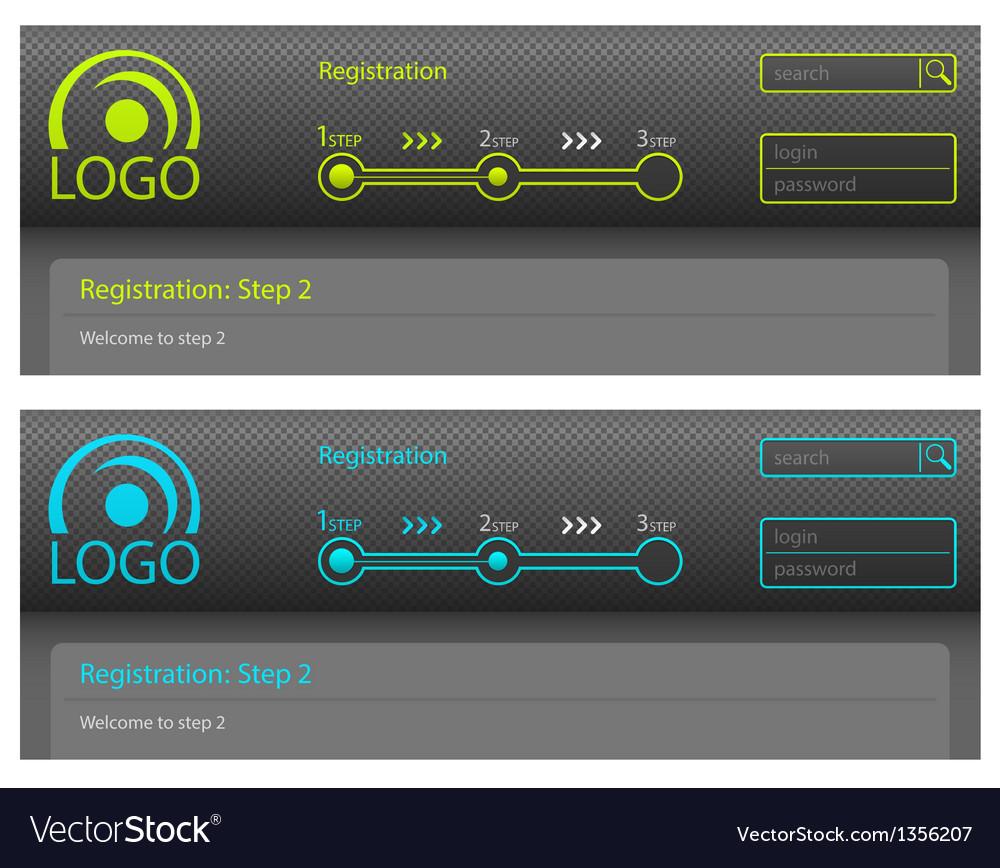 Registration vector image