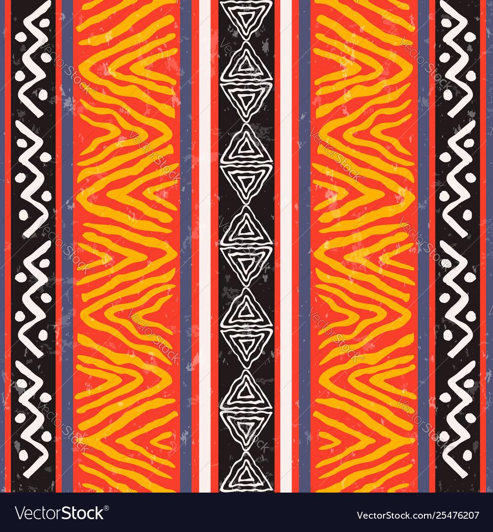 Wild ethnic african art background pattern