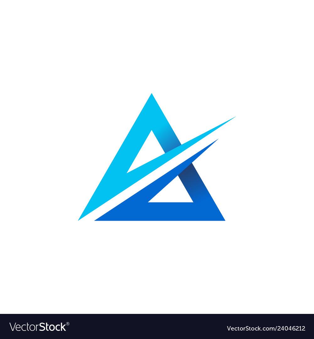 A letter triangle logo icon