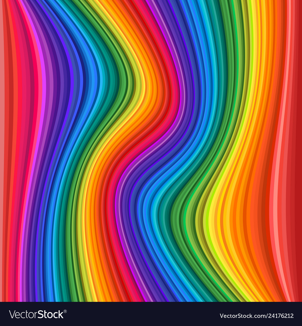 Abstract colorful rainbow waves