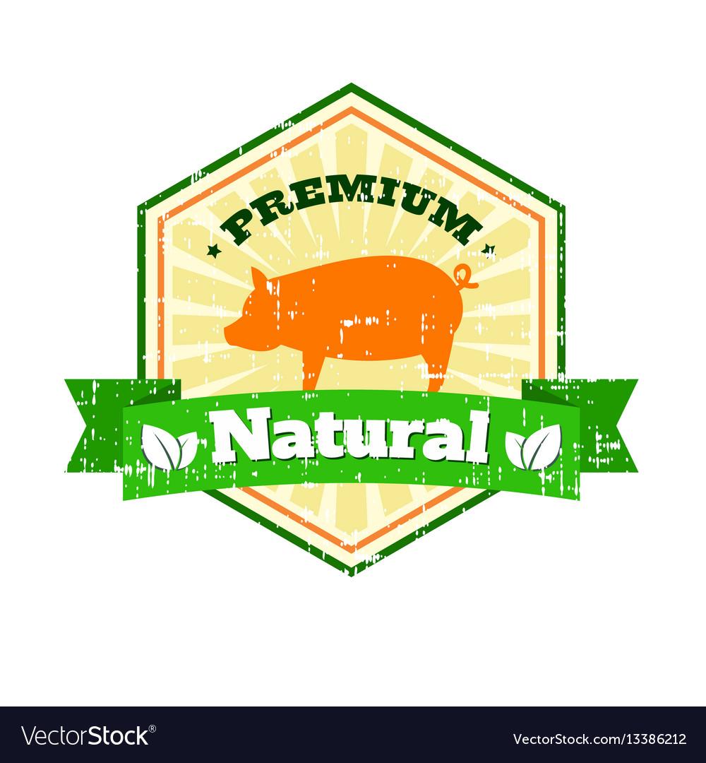 Butcher shop vintage logo natural food farm logo