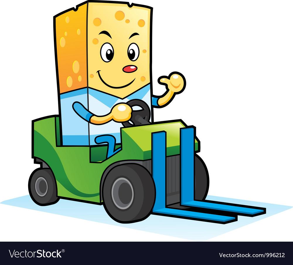 Cheese Mascot Characters vector image