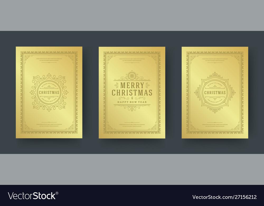 Christmas greeting cards design ornate decoration
