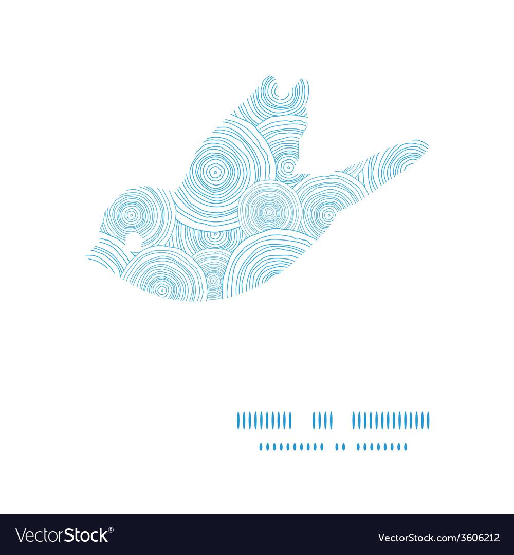 doodle circle water texture bird silhouette vector image  vectorstock