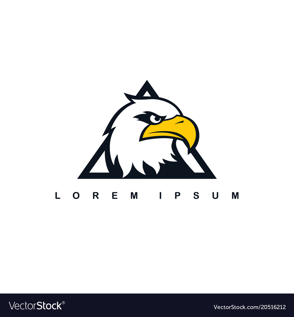 eagle hawk bird logo template royalty free vector image