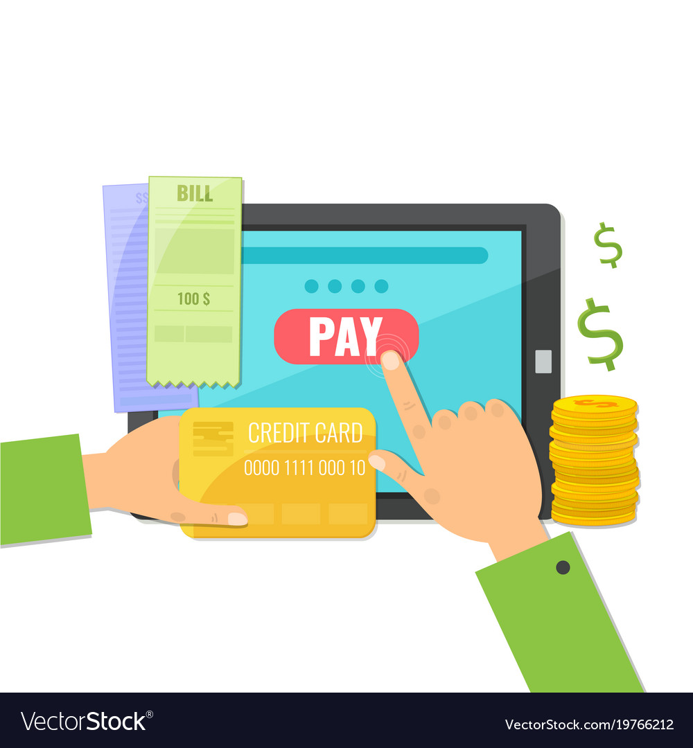 Mobile payment concept paying bills online