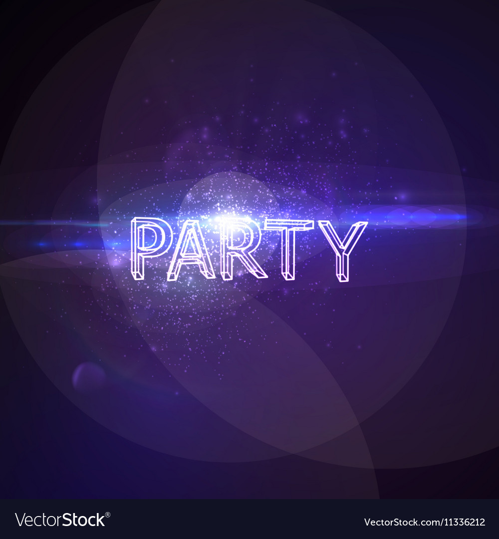 Party 3D Neon Sign