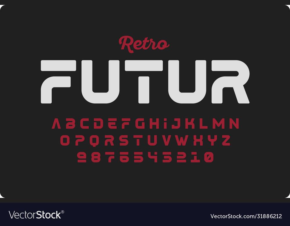 Retrofuturism style font