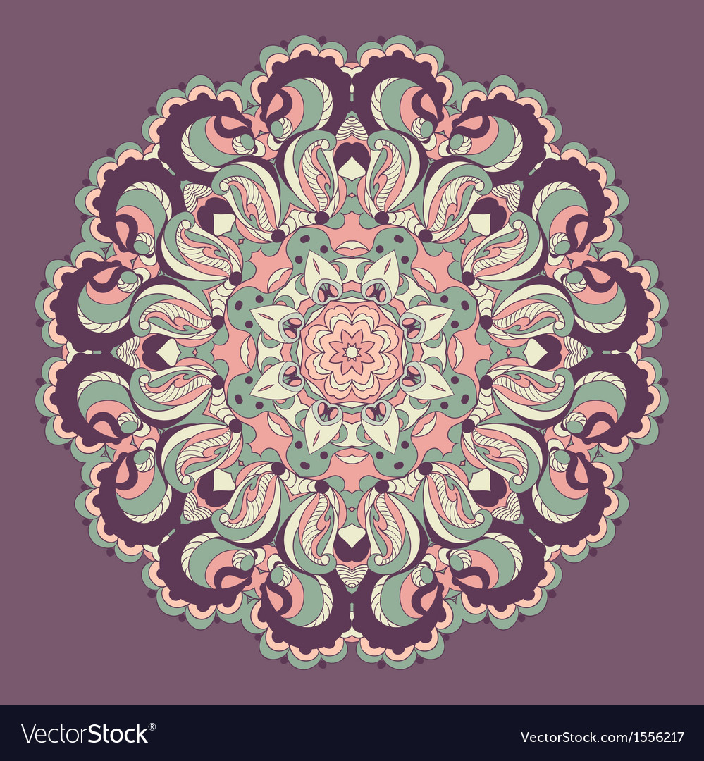 Beautiful purple arabesque lace pattern background