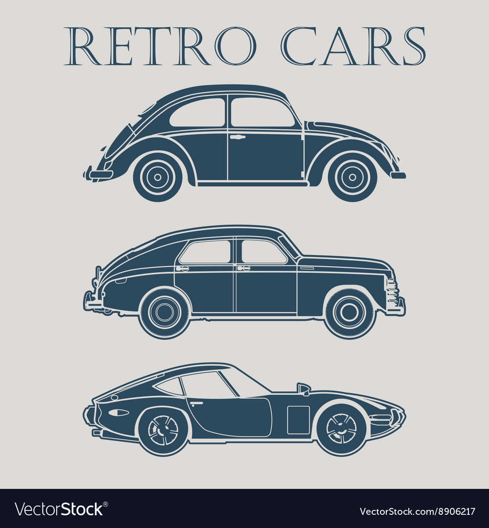 Car retro 50s 60s 70s poster