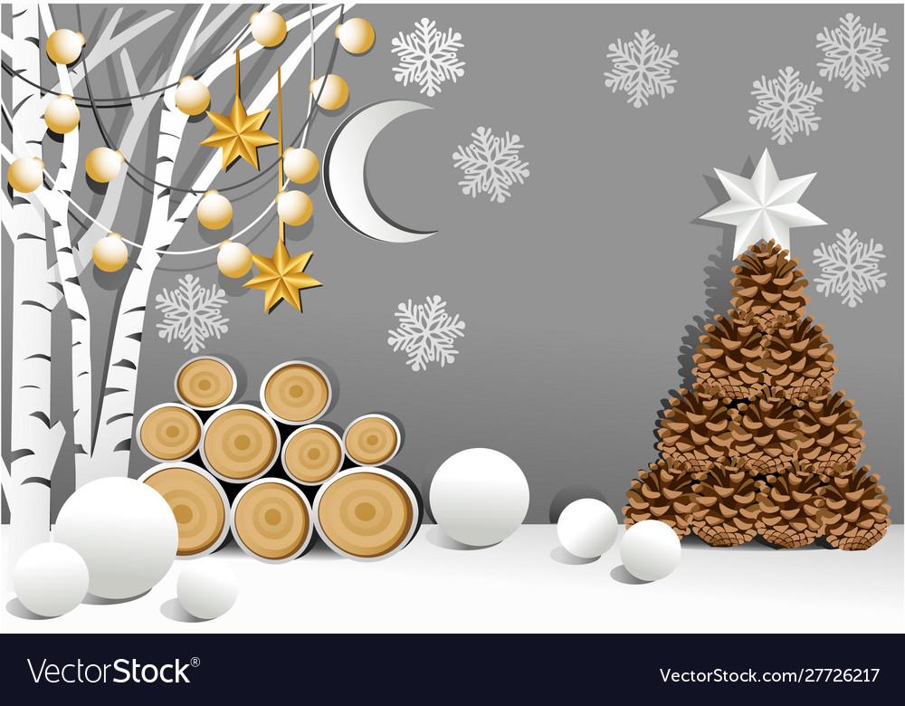 Christmas holiday background with christmas