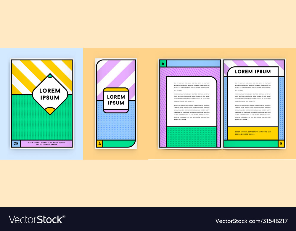 Colorful poster or stationary identity design