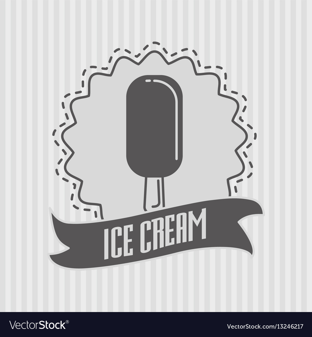Ice cream logo or badge concept