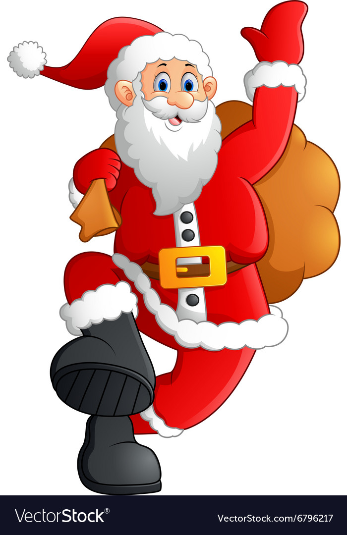 Father Christmas Images Free.Jolly Father Christmas Cartoon