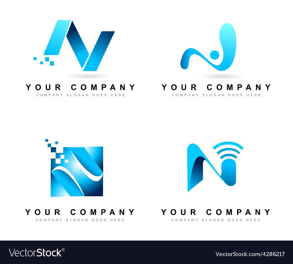 Letter N Logo Design Royalty Free Vector Image