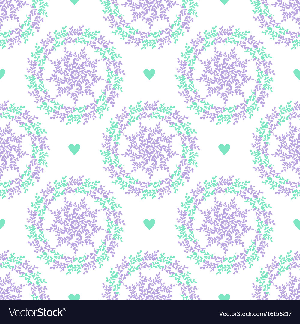 Pastel seamless pattern with nature circles and vector image