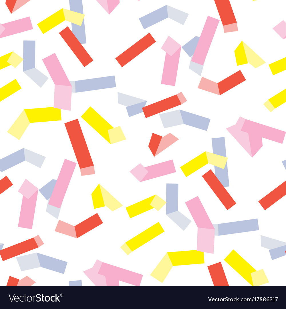 Yellow and rosy rectangle geometry pattern vector image