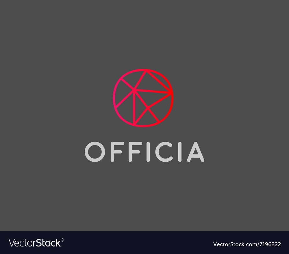 abstract trend letter o logo design template vector image