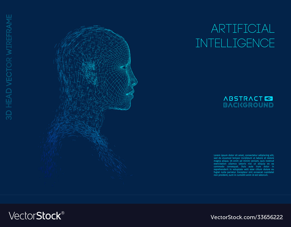 Artificial intelligence head city human and
