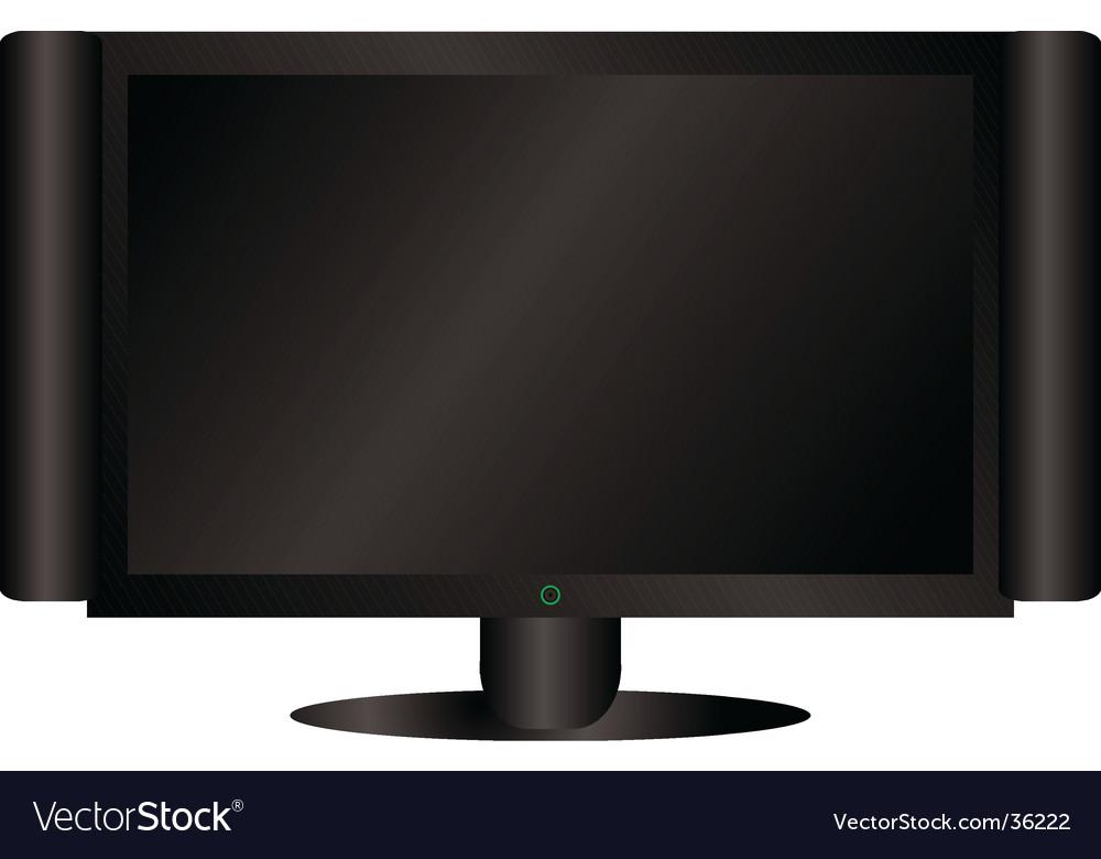 Black LCD vector image