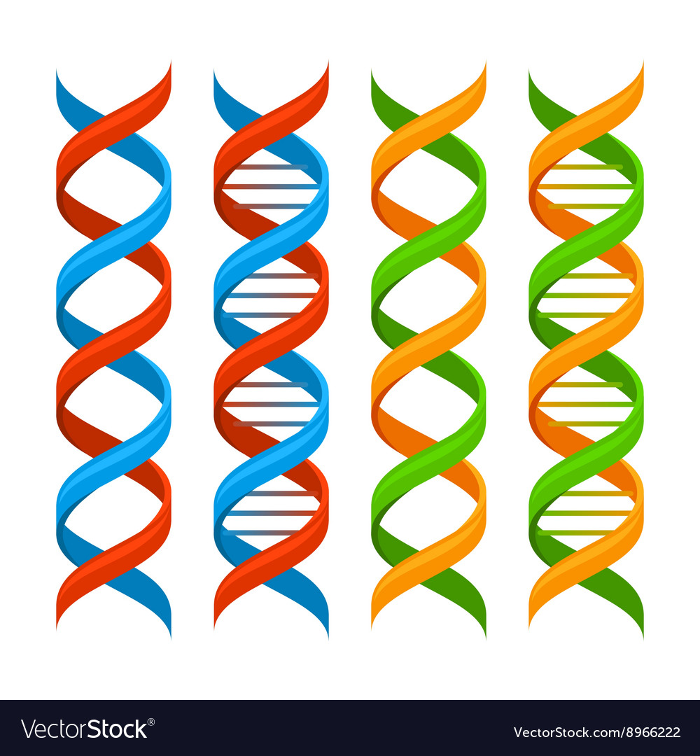 DNA Genome Molecules Set