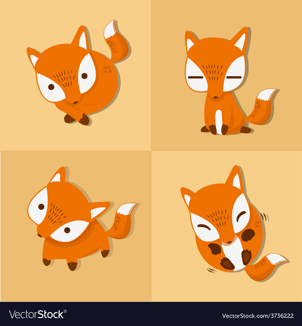 Fox four stance vector image